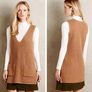 Moth Anthropologie Sweater Sz S Brown sleeveless